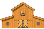 2D Diagram of a raised center barn home
