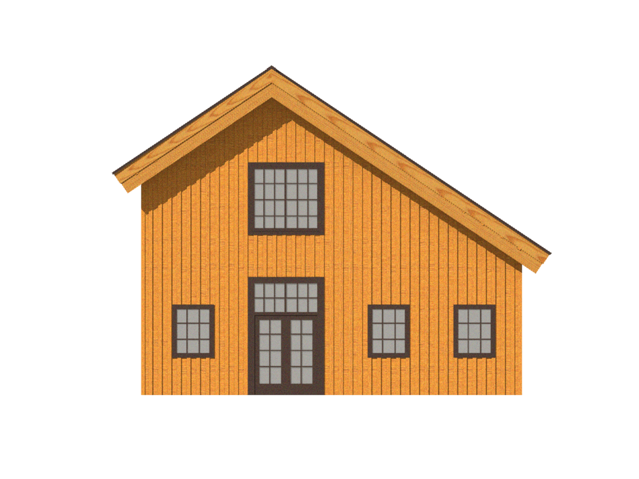 barn home saltbox roof line 2d