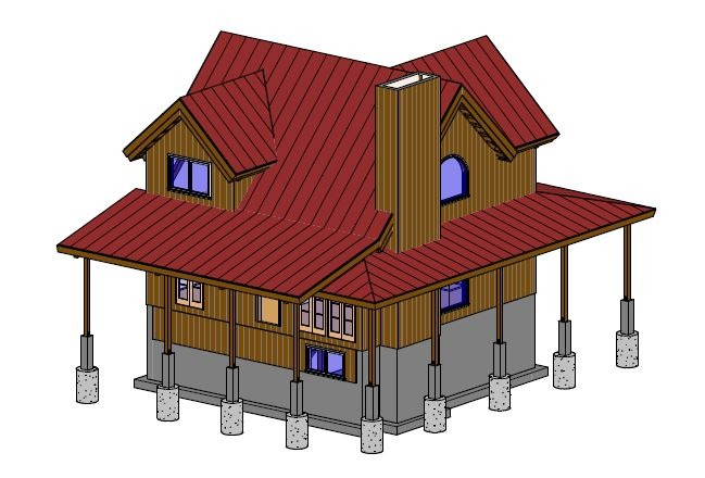log cabin style kit